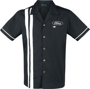 Czarna koszula Emp z krótkim rękawem