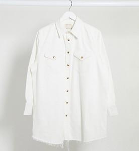 ASOS DESIGN Maternity – Biała jeansowa koszula oversize-Biały