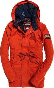 Czerwona kurtka Superdry z bawełny