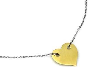 Lovrin Srebrny naszyjnik 925 z pozłacanym sercem 1,93 g