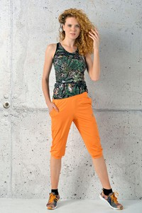 Pomarańczowe spodnie Nessi Sportswear z dresówki