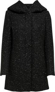 Czarny płaszcz Only z wełny