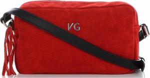 Czerwona torebka VITTORIA GOTTI na ramię mała ze skóry