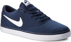 Buty NIKE - Sb Check Solar Cnvs 843896 400 Midnight Navy/White