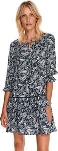 Sukienka Top Secret koszulowa mini z okrągłym dekoltem