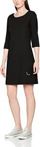 Czarna sukienka amazon.de dla puszystych z długim rękawem