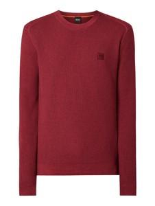 Czerwony sweter Hugo Boss z wełny w stylu casual