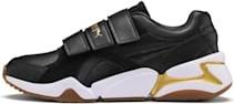 Buty sportowe Puma na rzepy z płaską podeszwą ze skóry