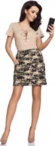 Spódnica Senella w militarnym stylu