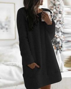 Sukienka Kendallme prosta z długim rękawem