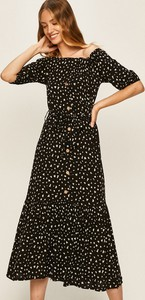 Sukienka Answear z tkaniny midi z krótkim rękawem