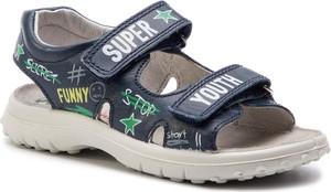 Buty dziecięce letnie Naturino ze skóry na rzepy
