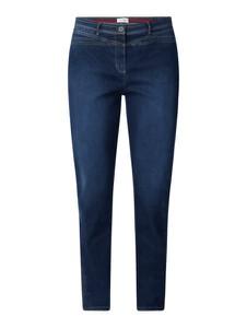 Granatowe jeansy Recover Pants z bawełny
