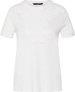 Bluzka Vero Moda z dżerseju z krótkim rękawem z okrągłym dekoltem