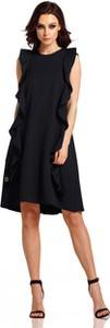 Czarna sukienka Lemoniade bez rękawów z okrągłym dekoltem