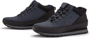 Granatowe buty trekkingowe Lee Cooper z nubuku sznurowane