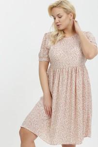Sukienka born2be mini z okrągłym dekoltem trapezowa