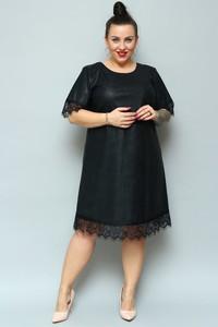 Sukienka KARKO midi dla puszystych