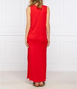 Czerwona sukienka Emporio Armani maxi