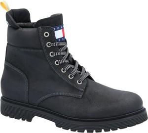 Buty zimowe Tommy Jeans sznurowane