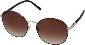 Brązowe okulary damskie Burberry
