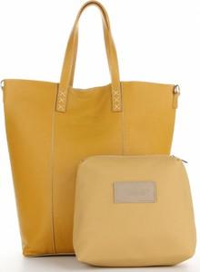 Żółta torebka VITTORIA GOTTI ze skóry matowa w wakacyjnym stylu