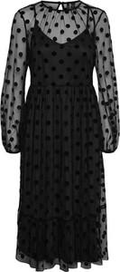 Czarna sukienka Vero Moda z okrągłym dekoltem