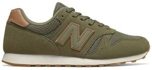 Zielone buty sportowe New Balance z zamszu w sportowym stylu