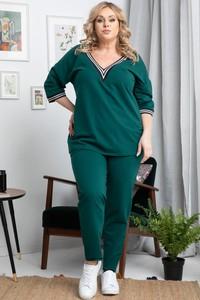 Zielony KARKO w stylu casual z dzianiny