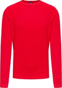 Czerwony sweter North Sails z bawełny w sportowym stylu