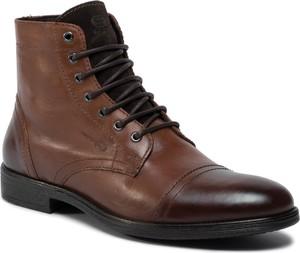 Brązowe buty zimowe Geox sznurowane