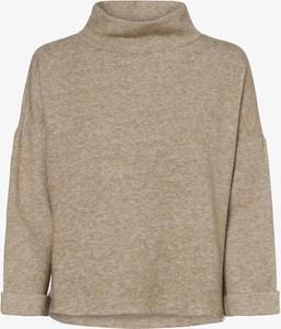 Brązowy sweter Opus w stylu casual z dżerseju