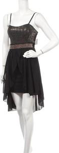 Czarna sukienka Made in Italy mini z okrągłym dekoltem
