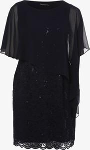 Granatowa sukienka Swing Curve asymetryczna z okrągłym dekoltem mini