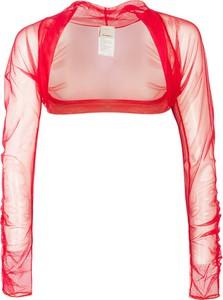 Czerwona bluzka Pinko w stylu casual z okrągłym dekoltem z długim rękawem