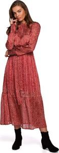 Czerwona sukienka Style z szyfonu