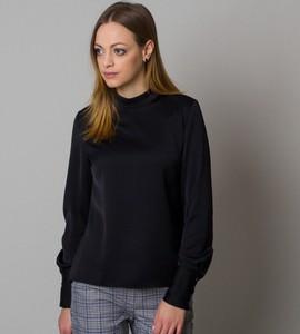 Czarna koszula Willsoor z tkaniny w stylu casual