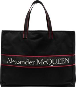 Torebka Alexander McQueen z bawełny duża