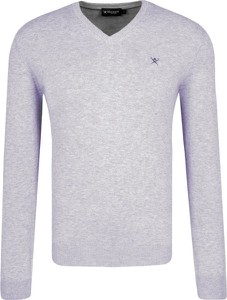 Sweter Hackett London z jedwabiu w stylu casual