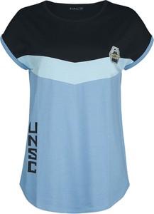 Bluzka Emp z krótkim rękawem z okrągłym dekoltem z bawełny