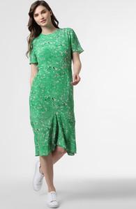 Zielona sukienka Tiger Of Sweden z jedwabiu z krótkim rękawem w stylu casual