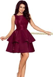 Sukienka NUMOCO bez rękawów z dekoltem w łódkę mini