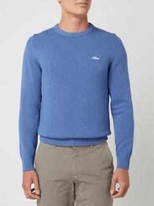 Niebieski sweter S.Oliver Red Label z okrągłym dekoltem
