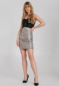 Srebrna spódnica Renee mini