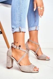 Sandały Sergio Leone z zamszu z klamrami