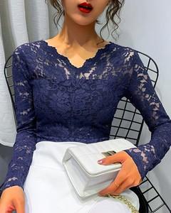 Bluzka Kendallme z długim rękawem w stylu casual