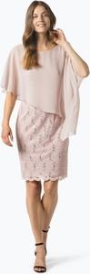 Sukienka Swing w stylu glamour z krótkim rękawem z okrągłym dekoltem