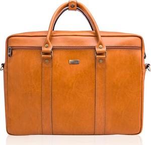 7c85e8996286e Torba • Skórzana teczka męska na laptopa PAOLO PERUZZI brązowa. Brązowa  torba Solier ze skóry