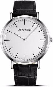 Zegarek GeekThink z biało-srebrną tarczą