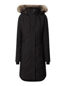 Czarny płaszcz Quartz Co w stylu casual